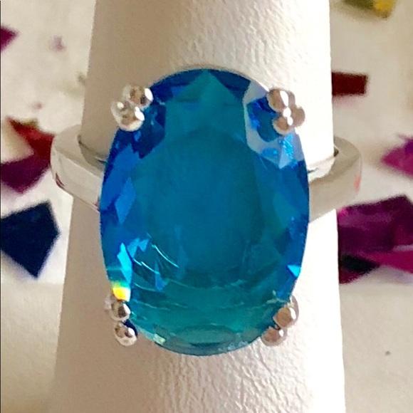 98c7e911f Jewelry | Brilliant Blue Topaz Cabochon Ring | Poshmark
